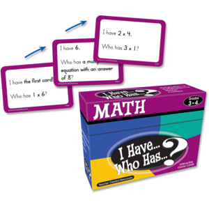TCR7819 I Have, Who Has Math Game Grade 3-4 Image