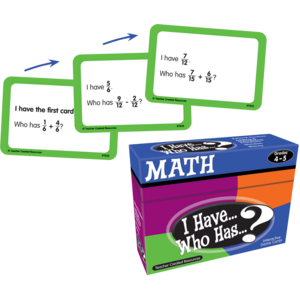 TCR7833 I Have, Who Has Math Game Grade 4-5 Image