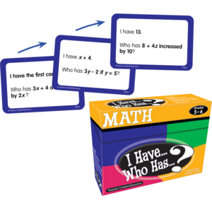 TCR7834 I Have, Who Has Math Game Grade 5-6 Image