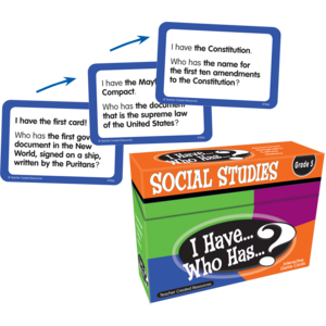 TCR7866 I Have, Who Has Social Studies Game Grade 5 Image