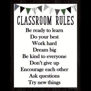TCR7999 Modern Farmhouse Classroom Rules Chart Image