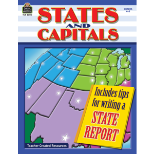 TCR8000 States and Capitals Grades 4-5 Image