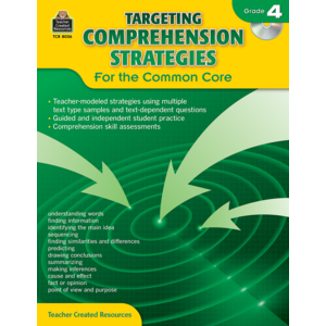 TCR8036 Targeting Comprehension Strategies for the Common Core Grade 4 Image