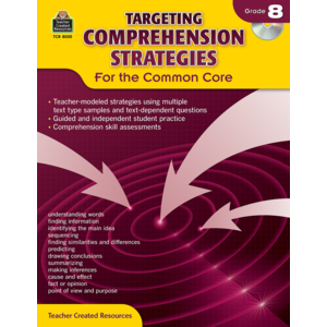 TCR8055 Targeting Comprehension Strategies for the Common Core Grade 8 Image