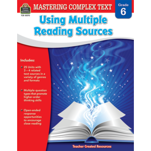 TCR8070 Mastering Complex Text Using Multiple Reading Sources Grade 6 Image