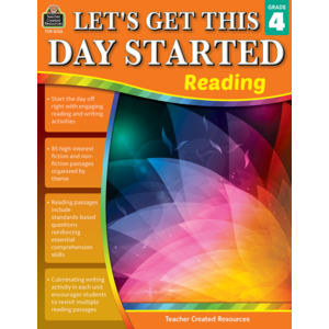 TCR8126 Let's Get This Day Started: Reading Grade 4 Image