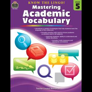 TCR8135 Know the Lingo! Mastering Academic Vocabulary Grade 5 Image