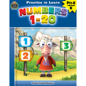 TCR8203 Practice to Learn: Numbers 1-20 Grades PreK-K Image