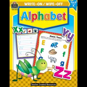 TCR8213 Alphabet Write-On Wipe-Off Book Image