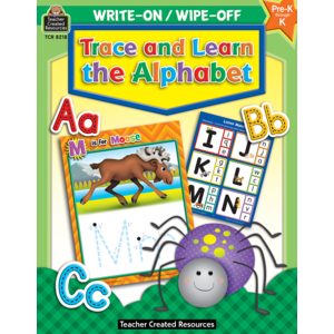 TCR8218 Trace and Learn the Alphabet Write-On Wipe-Off Image