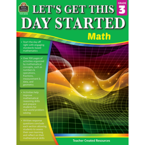 TCR8243 Let's Get This Day Started: Math Grade 3 Image