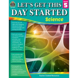 TCR8265 Let's Get This Day Started: Science Gr 5 Image