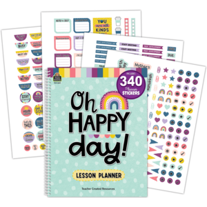 TCR8321 Oh Happy Day Lesson Planner Image
