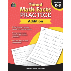 TCR8400 Timed Math Facts Practice: Addition Image