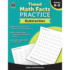 TCR8401 Timed Math Facts Practice: Subtraction Image