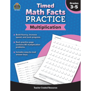 TCR8402 Timed Math Facts Practice: Multiplication Image