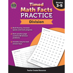 TCR8403 Timed Math Facts Practice: Division Image