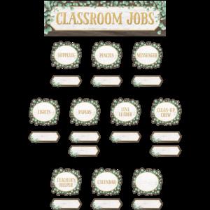 TCR8453 Eucalyptus Classroom Jobs Mini Bulletin Board Image