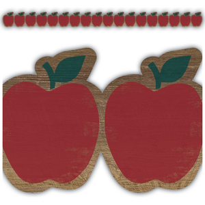TCR8458 Home Sweet Classroom Apples Die Cut Border Trim Image