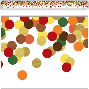 TCR8459 Confetti Fall Straight Border Trim Image