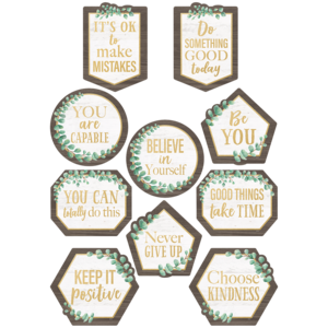 TCR8464 Eucalyptus Positive Sayings Accents Image