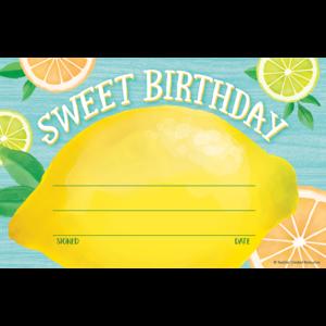TCR8494 Lemon Zest Sweet Birthday Awards Image