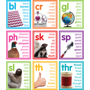 TCR8503 Colorful Photo Cards Digraphs and Blends Bulletin Board Image
