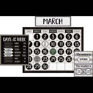 TCR8504 Modern Farmhouse Calendar Bulletin Board Image