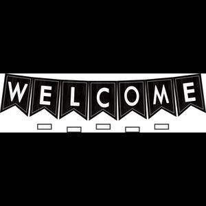 TCR8506 Modern Farmhouse Pennants Welcome Bulletin Board Image