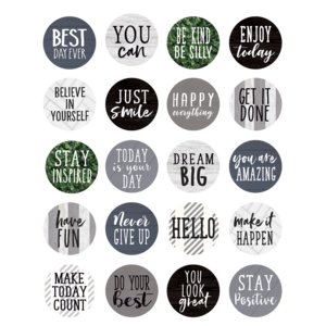 TCR8522 Modern Farmhouse Words to Inspire Planner Stickers Image