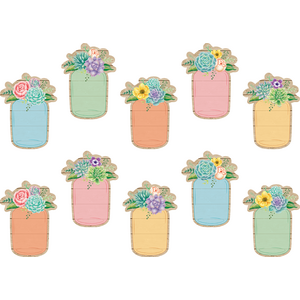 TCR8551 Rustic Bloom Mason Jars Accents Image