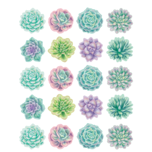TCR8554 Rustic Bloom Succulents Stickers Image