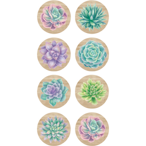 TCR8556 Rustic Bloom Succulents Mini Stickers Image