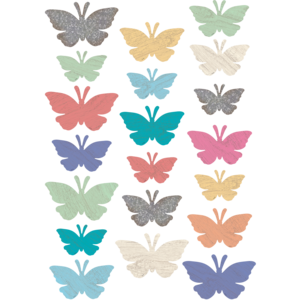 TCR8562 Home Sweet Classroom Butterflies Accents - Assorted Sizes Image