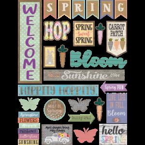 TCR8578 Home Sweet Classroom Spring Mini Bulletin Board Image