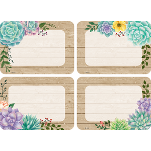 TCR8596 Rustic Bloom Name Tags/Labels - Multi-Pack Image