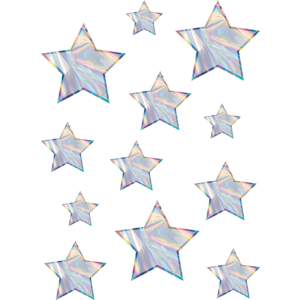 TCR8666 Iridescent Stars Accents - Assorted Sizes Image
