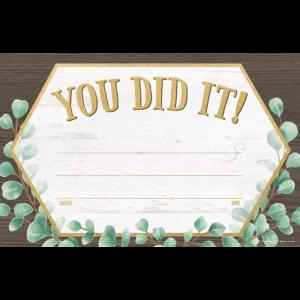 TCR8694 Eucalyptus You Did It! Awards Image
