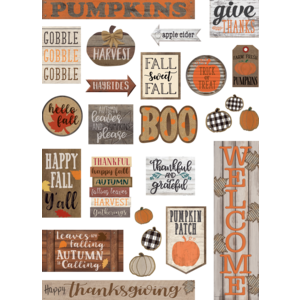 TCR8734 Home Sweet Classroom Happy Fall Mini Bulletin Board Image