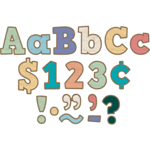 """TCR8820 Painted Wood Bold Block 4"""" Letters Combo Pack Image"""