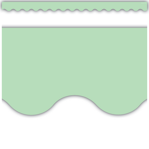 TCR8870 Mint Green Scalloped Border Trim Image