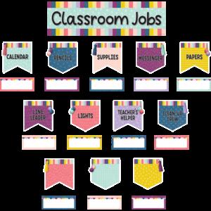 TCR9024 Oh Happy Day Classroom Jobs Mini Bulletin Board Image
