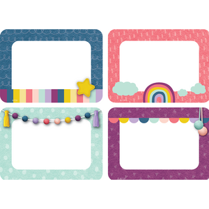 TCR9057 Oh Happy Day Name Tags/Labels - Multi-Pack Image