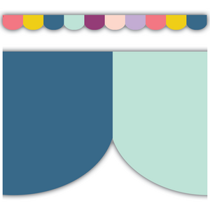 TCR9090 Oh Happy Day Scalloped Die-Cut Border Trim Image