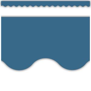 TCR9091 Slate Blue Scalloped Border Trim Image