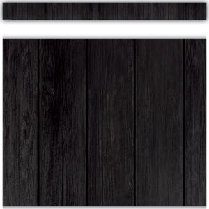 TCR9119 Black Wood Straight Border Trim Image