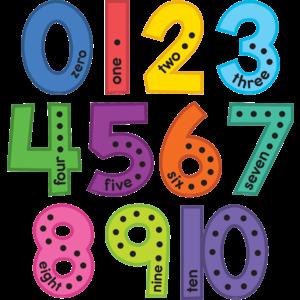 TCR9123 Colorful Jumbo Numbers Bulletin Board Image