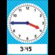 Magnetic Foam Geared Clock - Large Alternate Image A