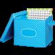Aqua Polka Dots Storage Box Alternate Image A
