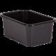 Black Small Plastic Storage Bin 6 Pack Alternate Image A